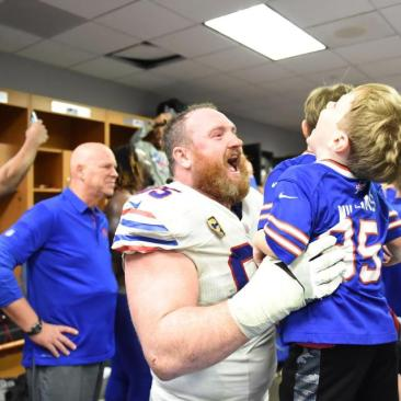 Kyle Williams Celebrates End to Playoff Drought