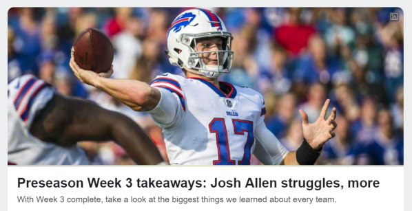 Josh Allen ESPN